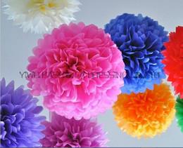 Wholesale Large Paper Flowers Decorative - Wedding Supply 25cm 30cm 35cm 3 Size Mixed 18pcs lot Decorative Large Tissue Paper Pom Poms Flower Balls decoration for Wedding