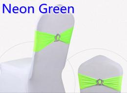Neón de color verde Corona hebilla lycra faja para la decoración de sillas de boda banda de spandex estiramiento pajarita cinta de lycra cinturón a la venta desde fabricantes