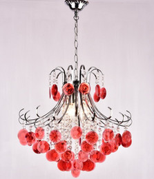 Wholesale modern red crystal chandelier - Free shipping LED crystal lights, dining rooms, chandeliers, living rooms, bedroom lights, flowers, crystal chandeliers LLFA
