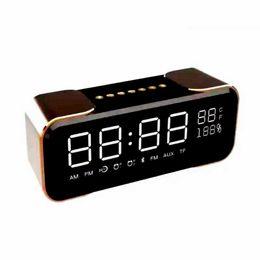 Wholesale Premium Wireless - Wholesale- 2017 New Premium Surround Wireless Speaker Box Clock LED Display FM Radio Alarm Clock TF Bedroom Mini Wireless Speaker PTH305