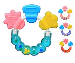 Wholesale Wholesale Baby Bits - Wholesale-Appease Baby Bite Bite music Teether Ring Silicone Rubber Teeth TOP1959