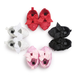Wholesale Rose Fabric Baby - Baby Shoes Infant Toddler First Walkers baby girls bows Stereo rose shoes Baby Girls Soft Shoes Newborn Footwear kids sequins Prewalker 6164