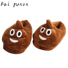 Wholesale Wholesale Women House Slippers - Wholesale-kai yunon Plush Slipper Expression Men And Women Slippers Winter House Shoes Oct 13
