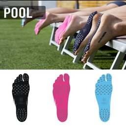 Wholesale R Stickers - Sticker Shoes Stick on Soles Sticky Pads NAKEFIT for Feet beach sock waterproof r Shoes Stick on Soles Sticky Pads for Feet KKA1910