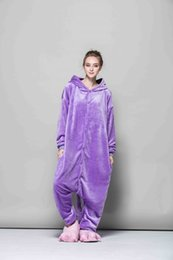 Lovely Purple elf Kigurumi Onesies Unisex Fannel Pigiama Costumi Cosplay Sleepwear Per adulti Benvenuto Ordine all'ingrosso da kigurumi viola fornitori