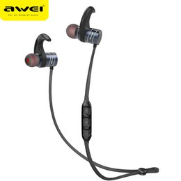 Wholesale Cordless Headsets - AWEI AK1 Bluetooth Earphone Wireless Cordless Headphone Sport Earpiece Stereo Magnetic Sound Headset Phone Earbuds Retail Package
