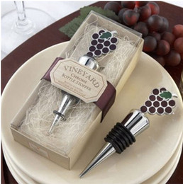Wholesale Grape Wine Stopper Wedding Favors - Bottle Favors 20 style New hot Vineyard Grapes Wine Stopper+ wedding party favors gifts+Free shipping Z271 V271