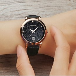 Wholesale Red Star Watches - 2017 SANDA Women Quartz Wrist Watches Fashion Casual Watches Simple Creative Star Dial Leather Strap Waterproof Watches Relogio