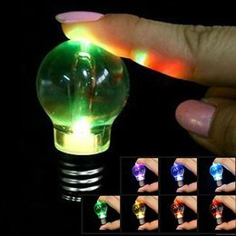 Wholesale Led Keychain Pcs - colour Changing Led Light Mini Bulb Torch Keyring Keychain rgb mini led keychain bulb RGB LED KEY RING BULB 1000 pcs YYA640