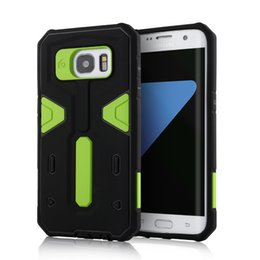 Wholesale Tough Cases For Galaxy S4 - Armor Full Body Case for Samsung Galaxy S4 S5 S6 S7 Edge Plus Hard Tough Shell Hybrid Dual Layer Heavy Duty Protective Cover