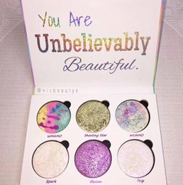 Wholesale Loving Beauty - Love Luxe Beauty Fantasy Palette Makeup You Are Unbelievably Beautiful highlighter 6 Colors Eyeshadow hot sell Free Shipping