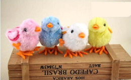 Wholesale Toy Clockwork Chicks - 5pcs lot Hot Selling Children's Educational Toys Colored PPlastic Chain Will Run On Clockwork Kawaii Chick Chicken Jumping