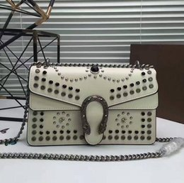 Wholesale Pvc Cross - 2017 new Rivet High quality Original Women Bag women famous brands bags small bags Italy Luxury Brand bags Fashion Designer white red