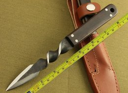 Wholesale Knife Forged - New High-carbon Steel Handmade Forged Dagger Boot Hunting Fixed Blade Knife H90