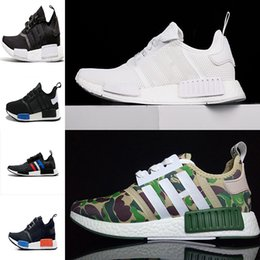 Wholesale Army Style Camping - 2017 New style NMD Runner men women Primeknit Camo Army Green Boost Cheap Sale Fashion Running Shoes Camouflage Casual Boosts Size 36-44
