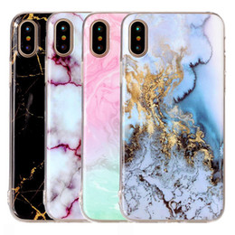 Wholesale Cellphone Shockproof - For Iphone X Case Marble Soft TPU Shockproof Back Cover Cellphone Case for Iphone X 8 8plus