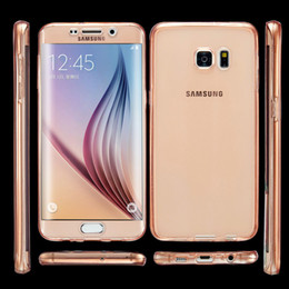kristallklares volles tpu fall Rabatt Für Samsung Galaxy S7 Rand Fall A5 2016 Fall für S6 J5 A3 Abdeckung Weiche TPU Ganzkörper-Schutz Crystal Clear Touch Case