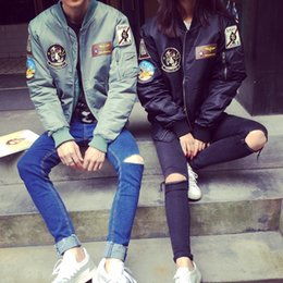 Wholesale Uniform Outerwear For Men - Harajuku style jacket baseball uniform fashion outerwear for men and women