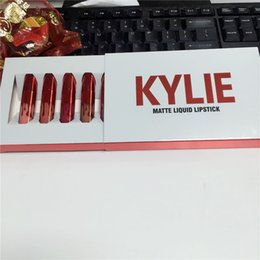 Wholesale Valentines Boxes Mini - Hot Kylie Cosmetics Valentines Collection Mini Matte Kit Lipsticks in Box Kylie Jenner Matte Lipstick Collection Set From alisky