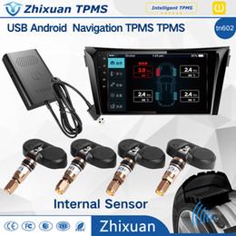 Wholesale Wholesale Car Dvd Navigation - Android DVD navigation USB tire pressure monitor system TN602 car original audio alarm APP backgound real-time monitoring internal sensor