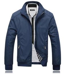 Abrigo 5xl online-Caída-Chaqueta Hombre Abrigo negro Chaquetas casuales Hombres al aire libre Chaqueta cortavientos jaqueta masculino veste homme marca ropa Talla M-5XL