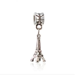 Wholesale Eiffel Tower Charms - Wholesale- European Style Charms Metal Alloy Jewelry Eiffel Tower Pendants Charms For Bracelet Necklace DIY Jewelry Making