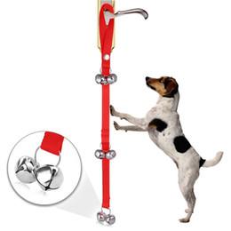 Wholesale Doorbell Rings - Multicolors Dog Doorbell Potty Bells Housetraining Dog Doorbells with Doggie Doorbell Nylon Pet Mini Dog Ring Bell