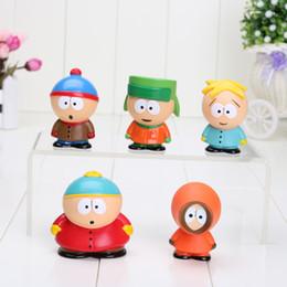 Wholesale South Park Mini Figures - 5pcs set 5cm South Park Mini PVC Action Figure Toys Dolls New in opp bag Free Shipping