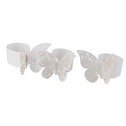 En gros-50 PCS Papier Papillon Anneaux De Serviette pour Mariages Partie Serviette Table Décoration 3D Papillon Papier Serviette Anneau Titulaire ? partir de fabricateur