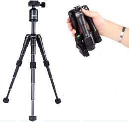 Wholesale Foldable Camera Tripod - Portable Foldable Ultra Aluminum alloy Tripod Compact Desktop Macro Mini Tripod Kit with Ball Head for Canon Nikon DSLR Camera