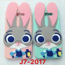Wholesale Iphone Case Cartoon Animal - 3D Cartoon Cute Judy Animals Rabbit Soft Silicone Case for iphone 7 plus 6 6S 5S SE Samsung S8 PLUS A3 A5 A7 J3 J5 J7 2017
