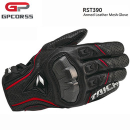 Wholesale Armed Motorcycle - Wholesale- The Latest GPCROSS RST390 Motorbike Armed Leather Mesh Gloves Motorcycle Riding Gloves Motocross Gloves Motocicleta Guantes