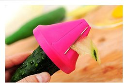 Wholesale Cooking Funnel - Vegetable Shred Device Kitchen Tools adget Funnel Model Spiral Slicer Cooking Salad Carrot Radish Cutter