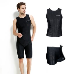 Wholesale Designer Men Briefs - Men's Swim Wear Short surf Swim Trunks Sunscreen Swimming Shirt sleeveless Swimsuits Swimwear with a Large Size Swimsuit Suit Designer