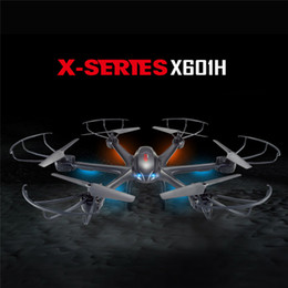 Wholesale Toys Helicopters Wireless - New MJX X601H X-Series 2.4Ghz 6-axis Gyro 3D Roll Quadcopter Helicopter Drone Wireless HD Video Real-time WiFi FPV Camera 2Color