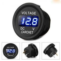 Wholesale Digital Voltmeter Voltage Meter Car - Car Truck Motorcycle DC Voltmeter Voltage Meter Blue LED Digital Display 12-24V