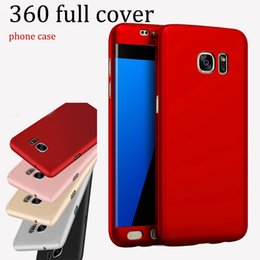 Wholesale pink body protector - For samsung NOTE 8 s8 s8edge ultra-thin 360 degree pc full body cover protector Screen Protection Case shookproof luxury case