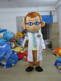 Wholesale Doctor Mascot Costumes - High quality male doctor Mascot Costumes Cartoon Character Costume Adult Fancy Dress Halloween carnival costumes EMS Free Shipping