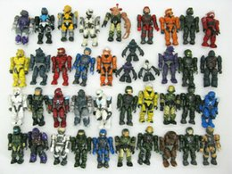 Wholesale Quality Action - lot 15PCS random Mega Bloks Halo quality Action Figure game's toy collector pack
