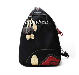 Wholesale Dual Use Bag - 2017 New Backpack washed cloth shoulder bag handbags chests dual-use hit color small backpack nylon Oxford bag free shipping Backpack