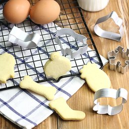 Wholesale Fantasy Butterflies - Fantasy Animal Shape Cookie Cutter Stainless Steel Butterfly HeartBiscuit Baking Mold Stainless Steel Toy For Home Chinese Kitchen Supplies