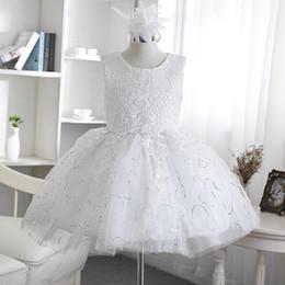 Wholesale Girls Military Clothing - Children's clothing wedding dress, 2017 new summer girl dress dress flower skirt dress children's princess pompon skirt