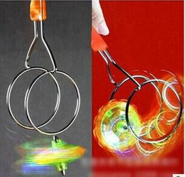 Wholesale magnetic gyro - wholesale child Led Magnetic magic gyro toys flashing children's toys party gifts hot sale