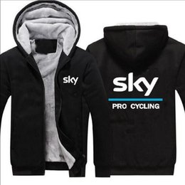 Wholesale Ring Jackets - Wholesale Hoodies & Sweatshirts team sky sky team double layer plus velvet thick zipper sweater ring method bike race ride jacket male