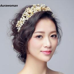 Splendida Wedding Tiara Capelli Gioielli Sposa europea Corona Perla Diamante Accessori per capelli da sposa Copricapo Nuziale da