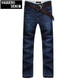 Wholesale New Jeans Classic - Wholesale-2015 New Arrival True Jeans Men Brand High Quality Denim Classic Regular Straight Cotton Jeans Free Shipping Size 28-46 507
