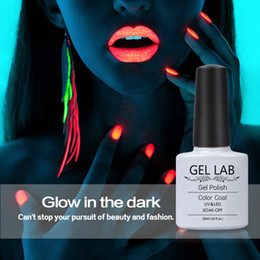 Wholesale Uv Gel Color Set 24 - Wholesale-GEL LAB Hot Sale Luminous Gel Nail Polish 24 Candy Color Fluorescent Night Glow In Dark For Beauty Women UV Nail Gel Polish Set