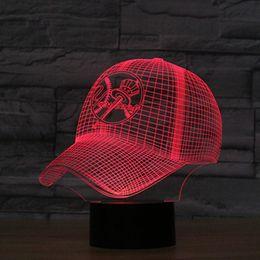 Wholesale Yankee Lights - 3D Lamp USB Power 7 Colors Amazing Optical Illusion 3D Grow LED Lamp New York Yankees Children Bedroom Night Light