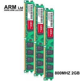 Wholesale desktop rams - ARM Ltd 2Gb 800Mhz DDR2 PC2-6400 DIMM Desktop PC RAM Use only AMD motherboards Computer Components super-speed RAMs Gifts