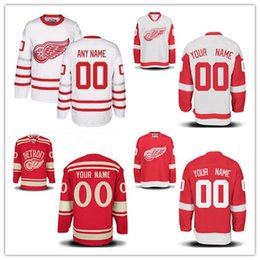 Wholesale Custom Stitched Jerseys - Custom Detroit Red Wings Mens Womens Youth White 2017 Centennial Classic Winter Red Any Name Any Number Stitched Hockey Jerseys S-4XL